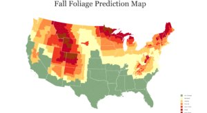 According To The 2020 Fall Foliage Prediction Map, Here's When You Can Expect The Colors To Peak In Your Part Of Indiana