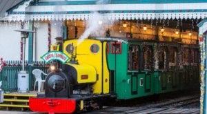 Take A Ride On The Decked-Out Arctic Express, The Only Light Railway In Alabama