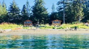 Spend The Night Between Two Beaches Right On Kachemak Bay In Alaska