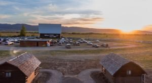 Enjoy A Drive-In Movie Followed By A Night In A Cozy Cabin At The Historic Spud Drive-In Theater In Idaho