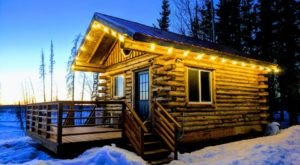 Ogle The Stunning Denali Views In This Tiny Alaskan Log Cabin