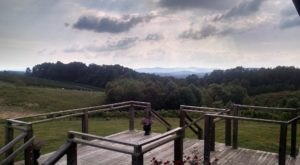 Off The Beaten Path In Dobbins Creek Vineyards, You'll Find A Breathtaking North Carolina Overlook That Lets You See For Miles