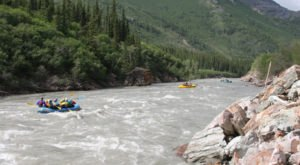 Raft Through The Nenana Gorge On An Alaskan Whitewater Adventure
