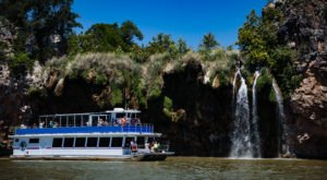 Vanishing Texas River Cruises Takes You To A Breathtaking Waterfall Only Accessible By Boat