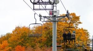 The Sight Of Fall Foliage In Michigan From Up Above Is Unbeatable On This Scenic Chairlift Ride