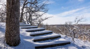 This Winter, Hike Up A Snowy Staircase At Flandrau State Park To See Beautiful Views Of Minnesota From Above