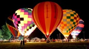 Watch Hot Air Balloons Illuminate The Skies At The 4th Annual Orlando Balloon Glow