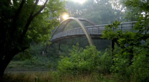 Enjoy A Beautiful Fall Stroll Along The 12-Mile Paved Pathfinder Parkway In Oklahoma