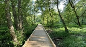 Hike Along A New Boardwalk Added To The Scenic Hematite Lake Trail In Kentucky