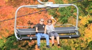 Enjoy Expansive Views And Seasonal Hues With A Scenic Chairlift Ride In Wisconsin