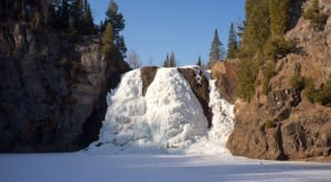 Marvel At A 70-Foot Frozen Waterfall This Winter With A Snowy Trip To Tettegouche State Park