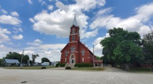 St. John Nepomucene Catholic Church Is A Pretty Place Of Worship In Kansas