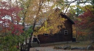 Experience The Fall Colors Like Never Before With A Stay At The Dogwood Cabin In Arkansas