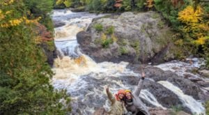 Potato River Falls In Wisconsin Will Soon Be Surrounded By Beautiful Fall Colors