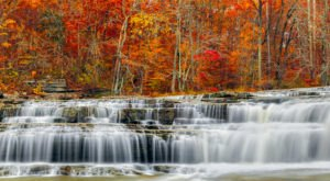 Cataract Falls In Indiana Will Soon Be Surrounded By Beautiful Fall Colors