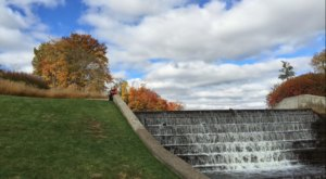 The Secret Manmade Waterfall Near Detroit That Most People Don't Know About