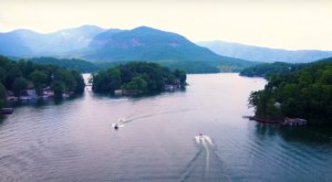 The Drone Footage Of Lake Lure, North Carolina Is Hauntingly Beautiful