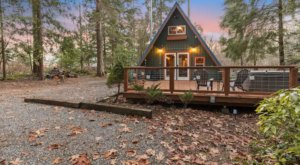 This Cozy A-Frame Cabin Borders The Most Visited Forest In Washington