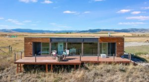 Go Off The Grid In Style At This Cool Container Cabin In Montana