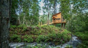 Sleep In A Treehouse Above A Tranquil Creek At This Washington Retreat