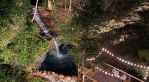 This Ohio Cabin Hiding In Hocking Hills Has A Heated Waterfall Swimming Hole