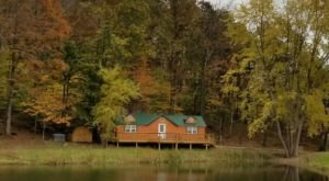Sneak Away To An Autumn Retreat With Incredible Water Views When You Visit This Cabin In Ohio