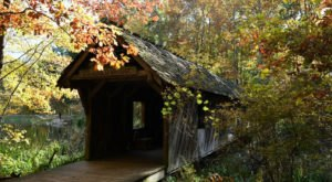 Walk Across The Cambron Covered Bridge For A Gorgeous View Of Alabama's Fall Colors