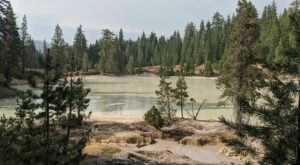 Hike Past Steaming Mudpots And A 125-Degree Lake On The Boiling Springs Lake Trail In Northern California