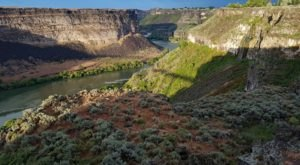 There's No Shortage Of Scenery On The Trail That Winds Along The Rim Of Idaho's Snake River Canyon