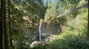 Drift Creek Falls Crosses A Suspension Bridge In Oregon And Leads To A Secret Waterfall