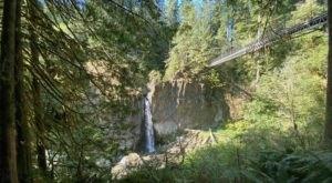 Drift Creek Falls Crosses A Suspension Bridge In Oregon And Leads To A Secret Waterfall