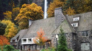 You'll Be Surrounded By The Most Breathtaking Fall Colors When You Dine At Multnomah Falls Lodge In Oregon