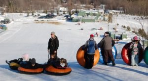 The Largest Snow Tubing Space In Michigan Is At Timberlee Hills And It's A Must-Visit For Winter Fun