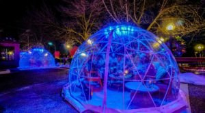 Dine Inside A Private Heated Igloo At Pier 500 In Wisconsin