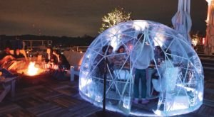 Dine Inside A Private Igloo With City Views At Ponce City Roof In Georgia