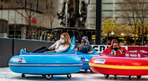 You Can Ride Bumper Cars On Ice This Winter At Fountain Square In Ohio And It's Insanely Fun