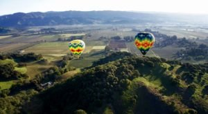 Ride In A Colorful Hot Air Balloon Over The Vineyards With Napa Valley Aloft In Northern California