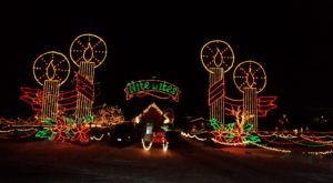 Drive Through A Million Lights At Michigan International Speedway During The Nite Lites Holiday Display