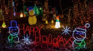 The Woodland Christmas Lights Trail In Pennsylvania Is Positively Enchanting