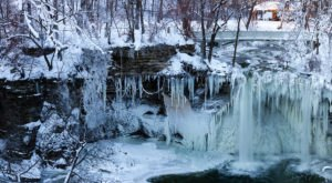 You'll Love The Sight Of The Otherworldly Frozen Waterfall At Minneopa State Park In Minnesota