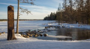Perfect Peace And Quiet Await Visitors To Minnesota's Snow-Covered Itasca State Park This Winter