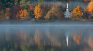 The Little White Church Is A Pretty Place Of Worship In New Hampshire