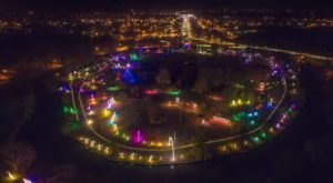 Discover The Wonder Of The Isle Of Lights As You Drive Through Island Park In Kansas