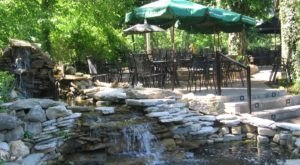 Enjoy Outdoor Dining By A Waterfall Even In The Winter At Selena's In Kentucky
