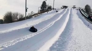 Tackle The Massively Popular Snow Tubing Hill At Villa Olivia In Illinois This Year