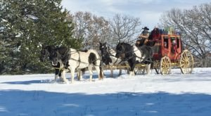 Take A Sleigh Ride To A Roaring Bonfire In Missouri At RS Ranch
