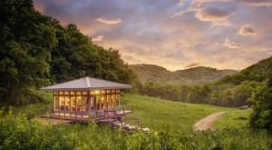 Enjoy Panoramic Views At The Glass House And The Meadow House In Wisconsin
