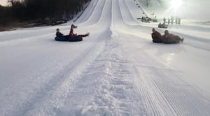 Tackle An Enormous 4-Lane Snow Tubing Hill At Seven Oaks Recreation In Iowa This Year