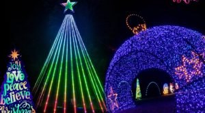 Drive Through The Longest Light Tunnel In The Midwest At Winter Magic In Missouri