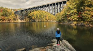 Walk Across The French King Bridge For A Gorgeous View Of Massachusetts' Fall Colors